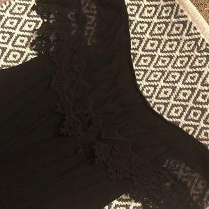 Ambiance Pants - Off the shoulder romper - Black